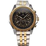 Luxury Male Clock Men Full Steel Wristwatch