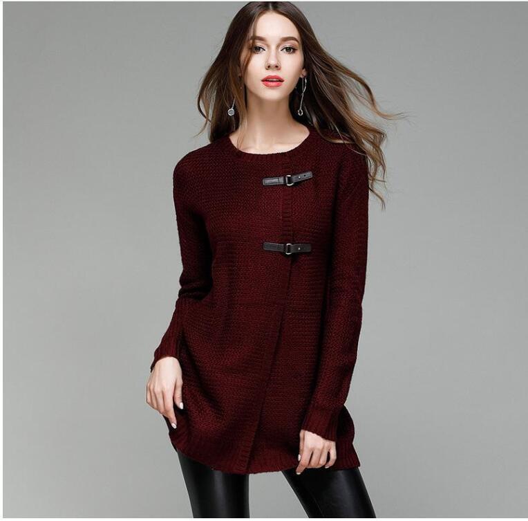 Winter Women Sweater Cardigan Long Coat
