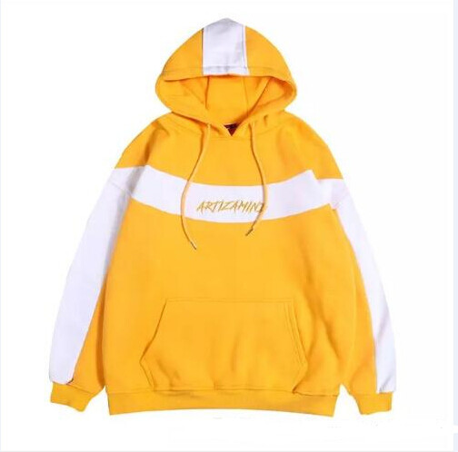 Embroidery Pullover Fleece Hoodies Mens