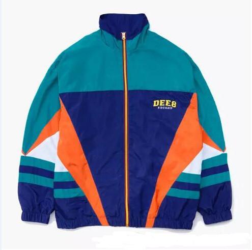 Jackets Men Retro Patchwork Color