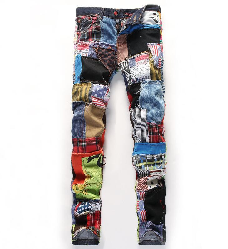 Flag Mens Jeans Denim Pants