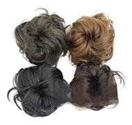 Curly Hair Pieces Buns