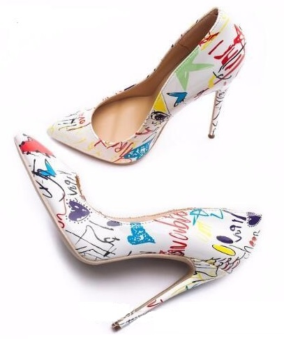 Specia Graffiti Stiletto Women Shoes