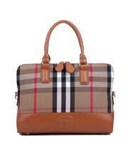 Women PU Leather Plaid Tote