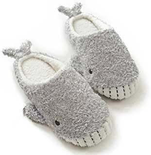 Women's Cozy Fleece Memory Foam House Trick Treat Halloween Slippers