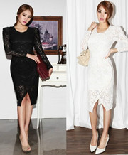 Lace Asymmetrical Dresses