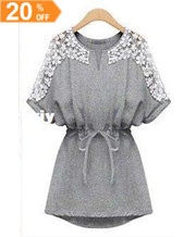 Lace Emboridery Cotton Dresses