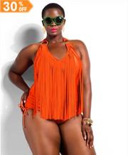 Halter Plus Size Bikini Sets