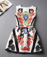 Printing Vest Casual Dresses