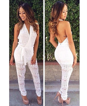 Hollow Out Halter Jumpsuits