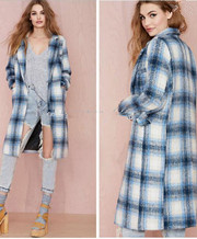 Plaid Spring Wool Coats