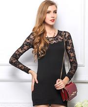 Lace Sleeve Mini Dresses