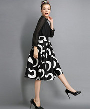 Print Pleated Skirts