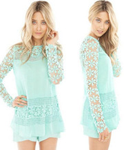Sheer Lace Sleeve Dresses