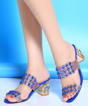 European and American Roman style women diamond sandal