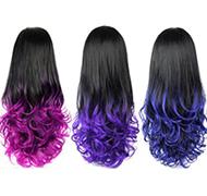Ombre Wig Half Wig Curly Hair Wigs