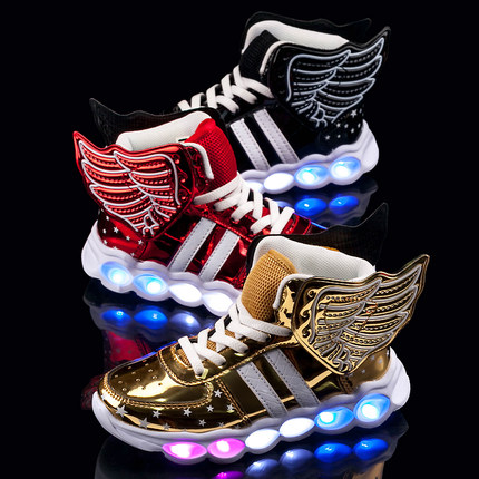 Sweety partners children's LED luminous wing shoes