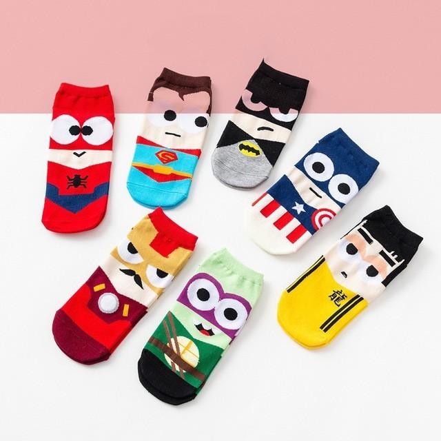 Cartoon children Teenagers short socks