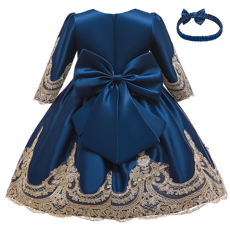 Kids Dresses For Girls Lace Bowknot Princess Dress