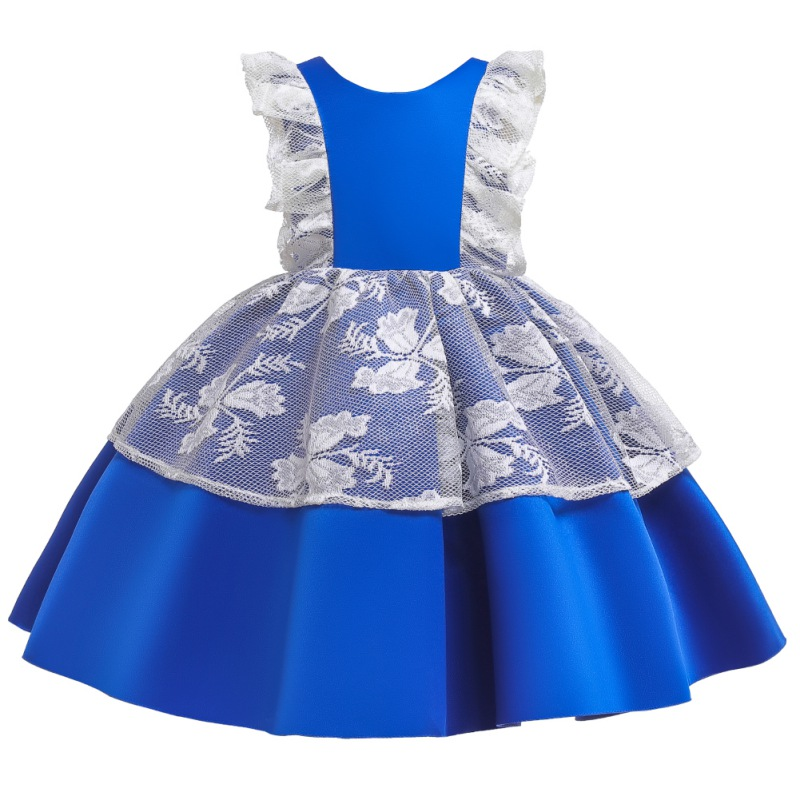 Kids Girls Dress Party Wedding Lace Sleeveless Children Pageant Costumes Robes Baby Formal Princess Dresses