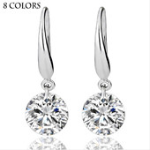 Real Solid 925 Sterling Silver Wedding Engagement Earring 2Ct Princess Cut créé Diamond Jewelry Wholesale Livraison gratuite