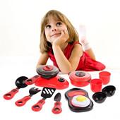 Un ensemble de cuisine Cuisine Jouet Enfants Bricolage Beauté Jouet de cuisine en plastique Jouer Ensemble de jouets Jouets éducatifs pour enfants Rouge Rose
