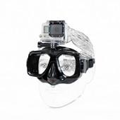 Masque de plongée sous-marine pour accessoires de caméra, verre trempé