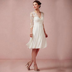 v neck short bridal gowns deals