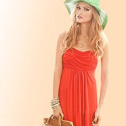 strapless chiffon party dresses deals