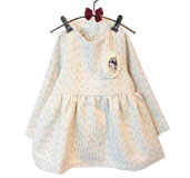 Girls' Grid Autumn Dresses