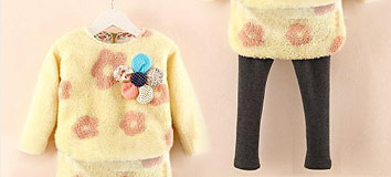 Girls' Thicken Winter Outfit Sets