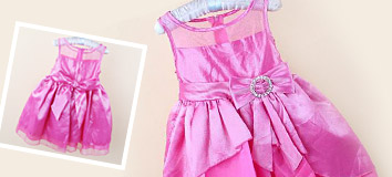 Girls' Party Dresses w/Bow