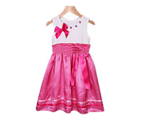 Girls' Satin Dresses w/bow