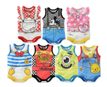 Babies' Cartoon Rompers