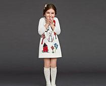 Scrawl Pattern Cotton Dresses