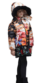 Girls' Floral Down Coats