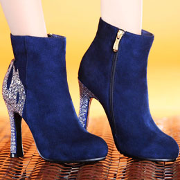 Komanic 2014 Genuine Leather High Heel Boots