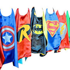 50Pcs Superhero Kids Cape