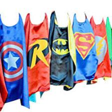 50Pcs Superhero Kids Cape