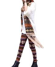 Snowflake Reindeer Knitted Warm Leggings