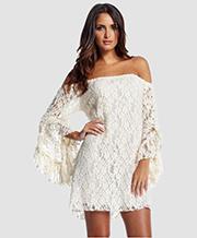 Slash Neck Lace  Dresses