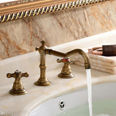 Products Related To Antique Brass Bathroom Faucet. 3pcs Faucet Sets Deals