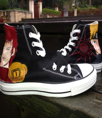 Hand Painted High Top Uzumaki Naruto Sneakers