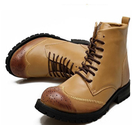 British Martin boots leather