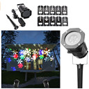 Christmas Snowflake Projector Lamp 10 Replaceable Lens 10 Colorful Patterns