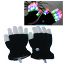 LED Colorful Flashing Finger Lighting Gloves