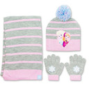 Frozen 3 Piece Beanie Set Knit Hat Gloves and Scarf