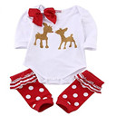Baby Girl Christmas Bodysuit Set