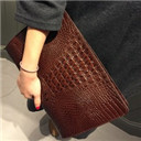 Hot crocodile bag envelope bag Women's envelope clutch