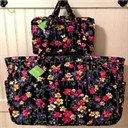 era Bradley GET CARRIED AWAY TOTE & HANGING ORGANIZER WILDFLOWER GARDEN Bag NWT